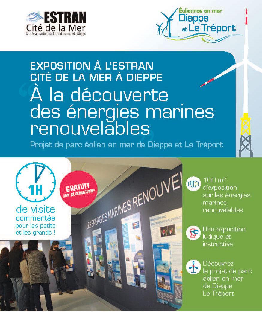 Exposition sur les énergies marines renouvelables à l'ESTRAN